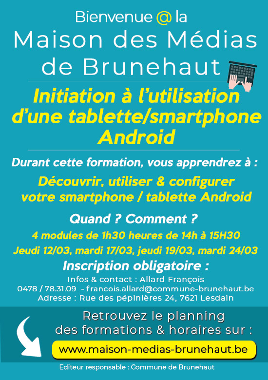 formation Smartphones - Tablettes Android